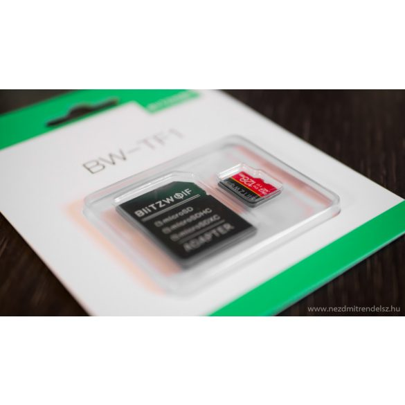 Memory Card with Adapter BlitzWolf®BW-TF1 128GB Memory Card with Adapter, Up to 80MB/s Read Speeds + 20MB/s Write Speeds