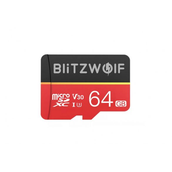 Memory Card with Adapter BlitzWolf®BW-TF1 64GB Memory Card with Adapter, Up to 80MB/s Read Speeds + 20MB/s Write Speeds