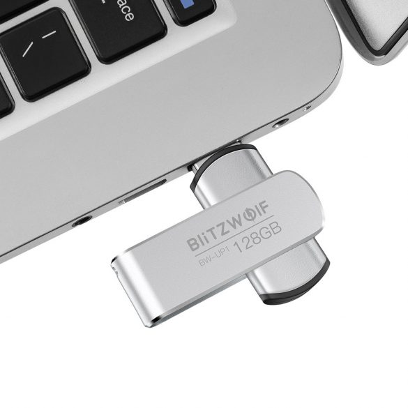 USB 3.0 Flash Drive 128 GB - BlitzWolf®BW-UP1, High Speed USB3.0, High Capacity, 360°Rotating Cover, Stylish and Portable Design, Durable Materials