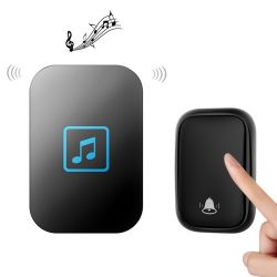 Wireless doorbell with kinetic energy - CACAZI FA86 - Range: 150m , 60 ringtones, 5 volumes