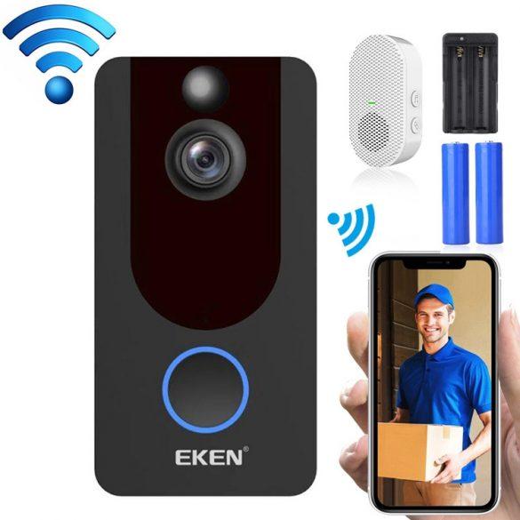EKEN V7 1080P -Wifi Smart Video Intercom with App Control + Battery + Indoor Bell