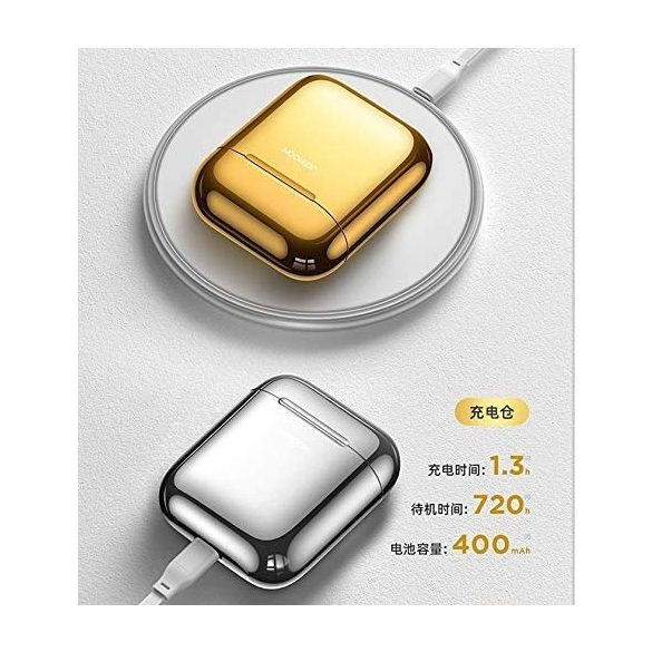 JOYROOM T03S TWS - QI (wireless) charging supported, bluetooth 5.0 earphones, gold