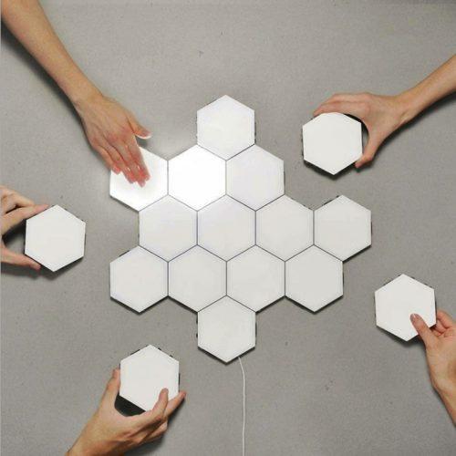 Ningbo Hexagonal Wall Lamps - (6pcs) Touch Sensitive Lighting Magnetic Creative Decoration Wall Night Light