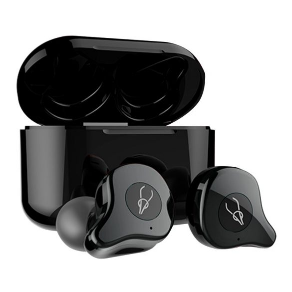 Sabbat E12 Ultra (grey) with QI-wireless charging - True Wireless Earbuds, Bluetooth 5.0 Headphones with Charging Case, Noise Cancelling Built in MicT WS HiFi Bass Stereo in Ear
