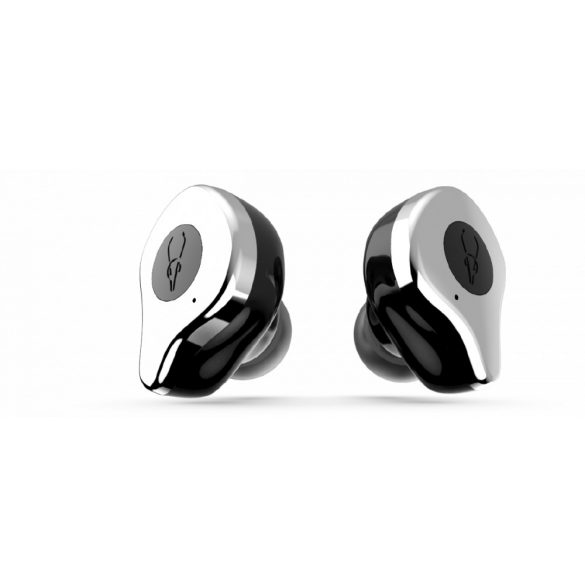 Sabbat E12 hail silver with QI-wireless charging - True Wireless Earbuds, Bluetooth 5.0 Headphones with Charging Case, Noise Cancelling Built in MicT WS HiFi Bass Stereo in Ear