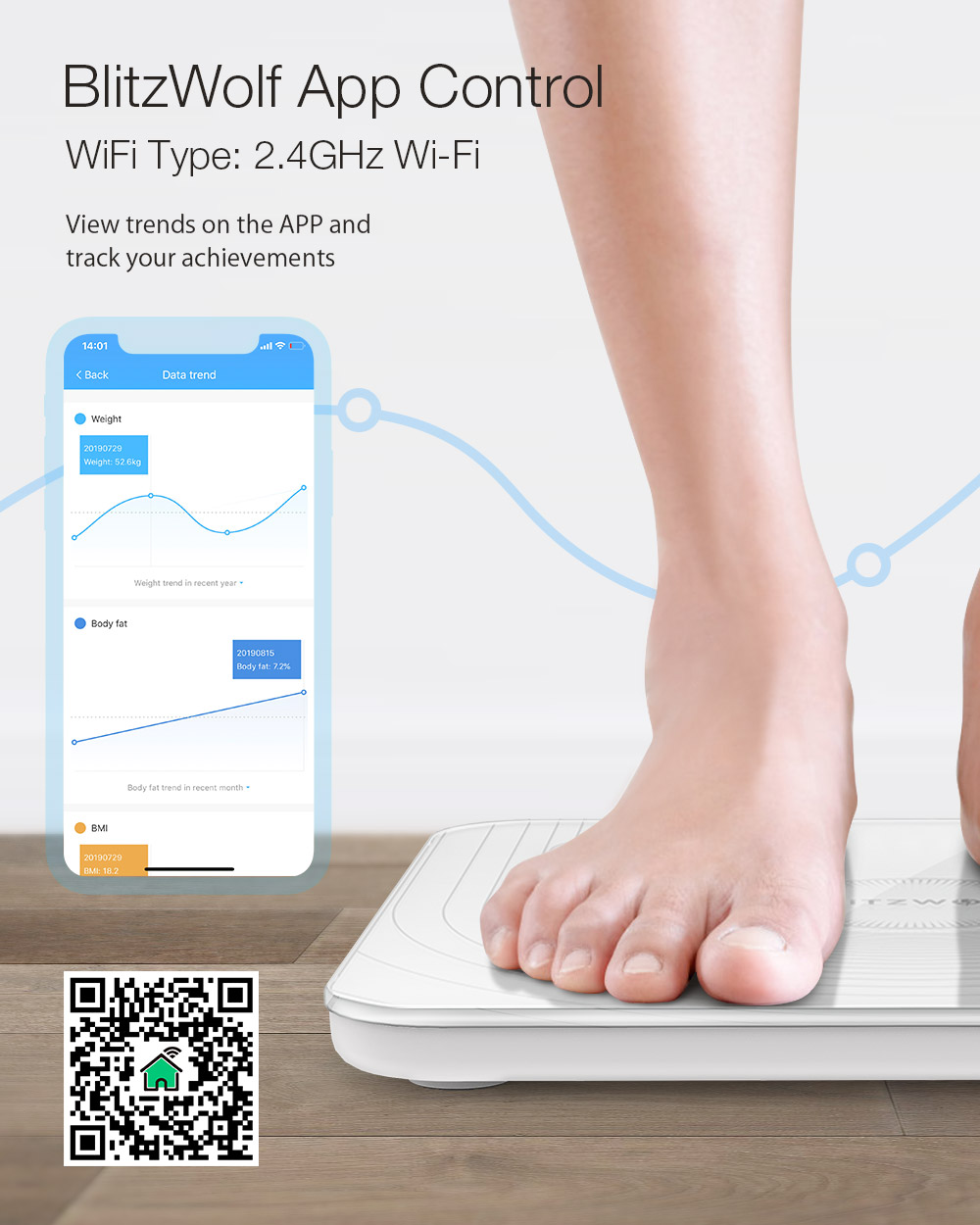 Blitzwolf® BW-SC1 smart scale