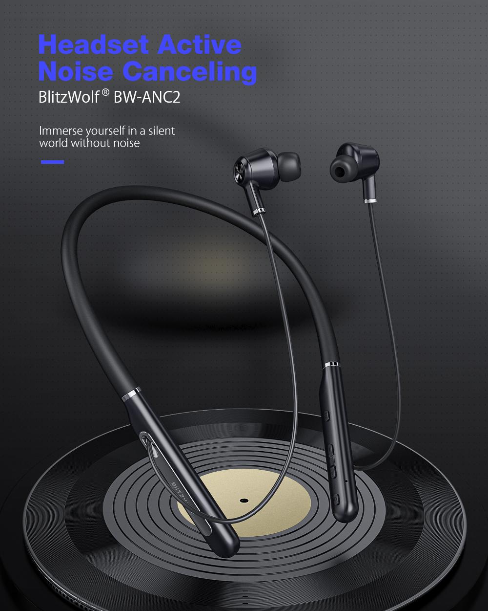 BlitzWolf BW-ANC2 Aktív zajszűrős headset