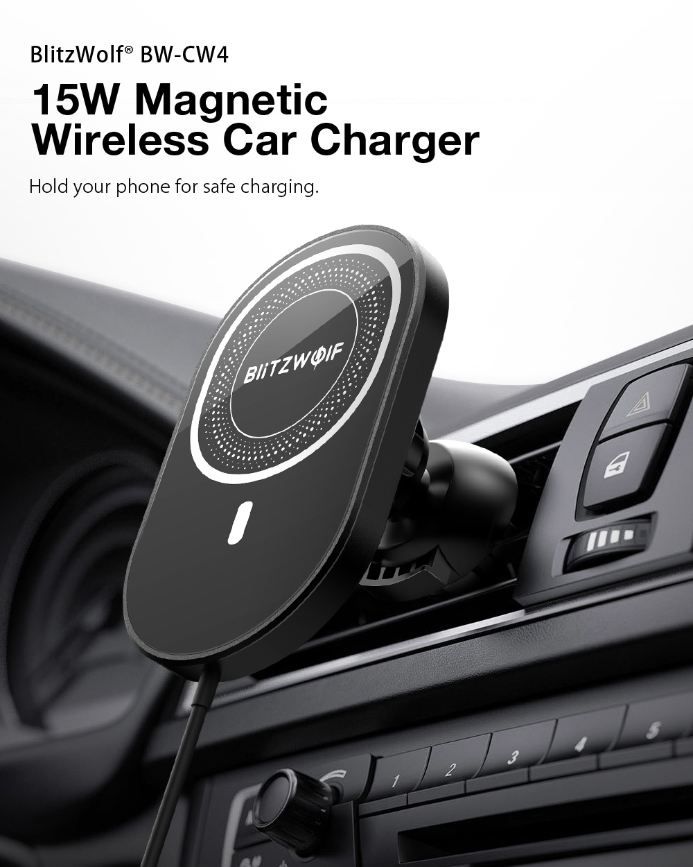 Blitwolf BW-CW4 QI wireless charger for car