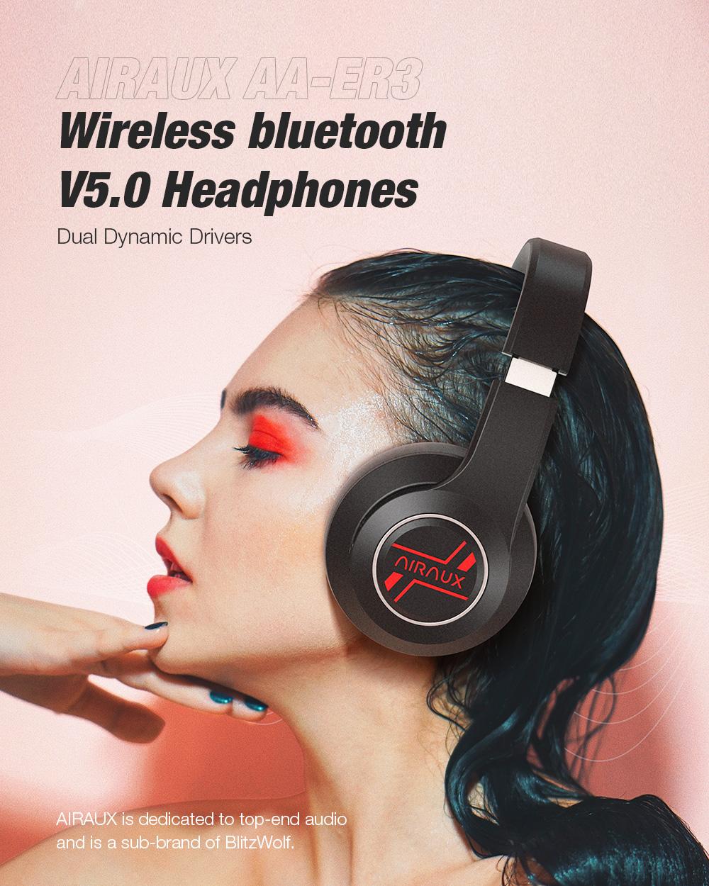 BlitzWolf® AirAux AA-ER3 - Dual Dynamic Driver fejhallgató