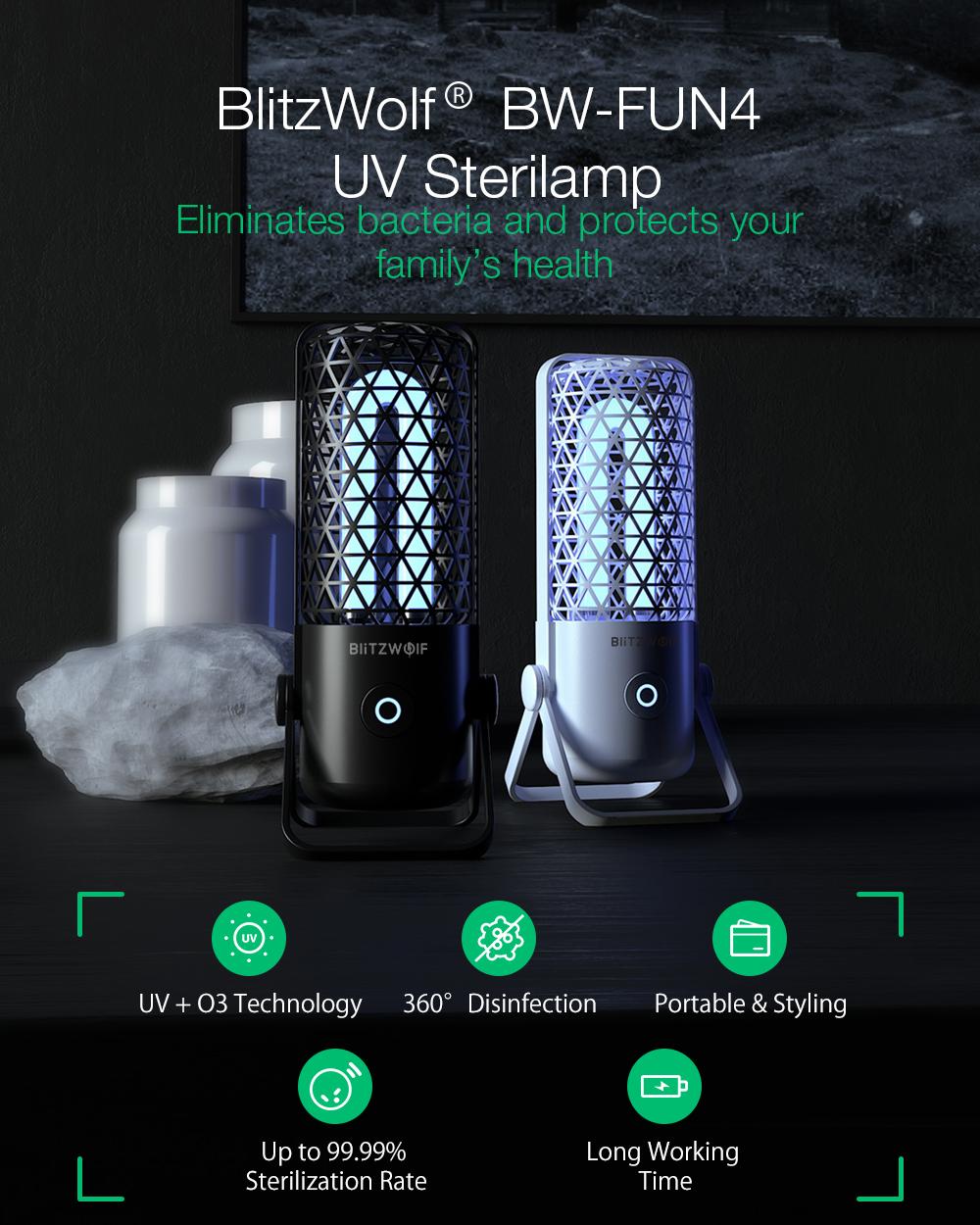 Blitzwolf BW-FUN4 sterilizáló lámpa