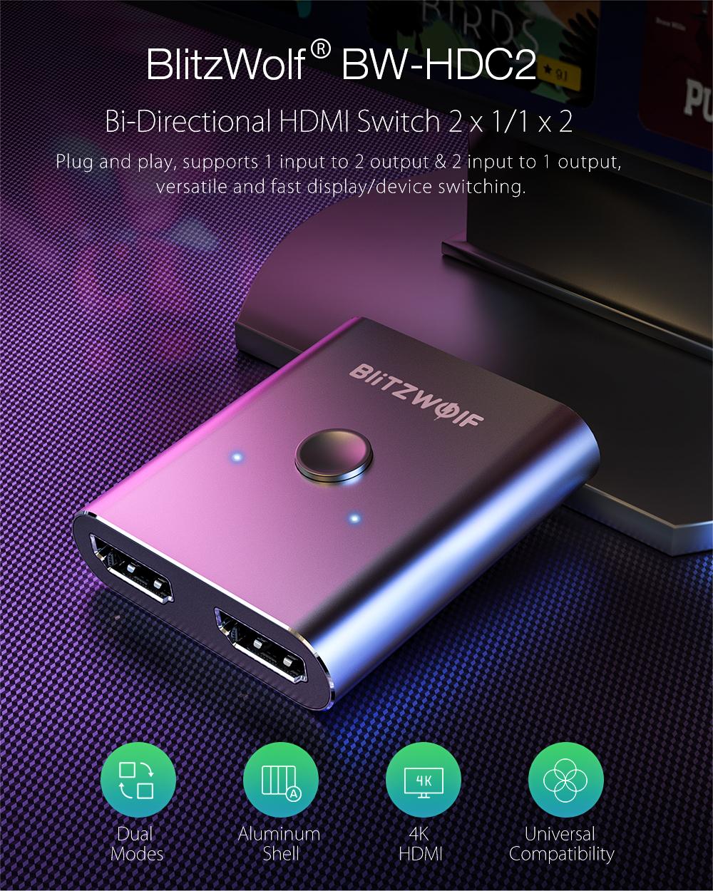 HDMI Switch - Blitzwolf BW-HDC2