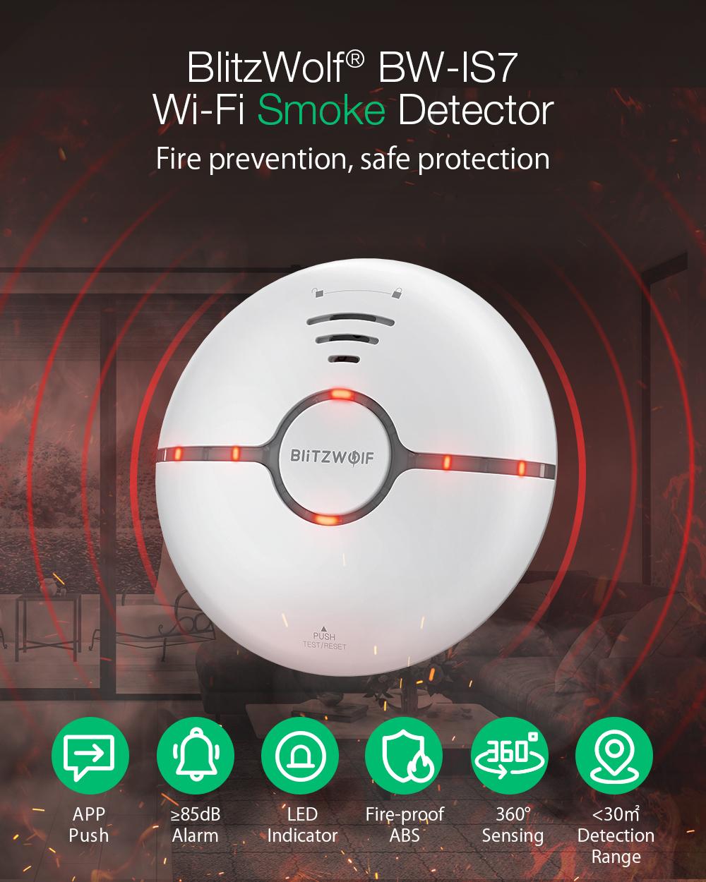 Blitzwolf BW-IS7 smart smoke detector