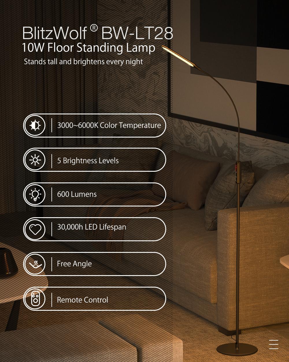 Blitzwolf BW-L28 stand lamp