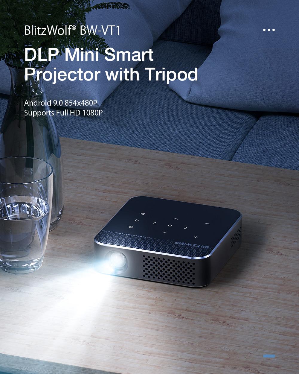 BlitzWolf® BW-VT1 Házimozi mini projektor - Android OS